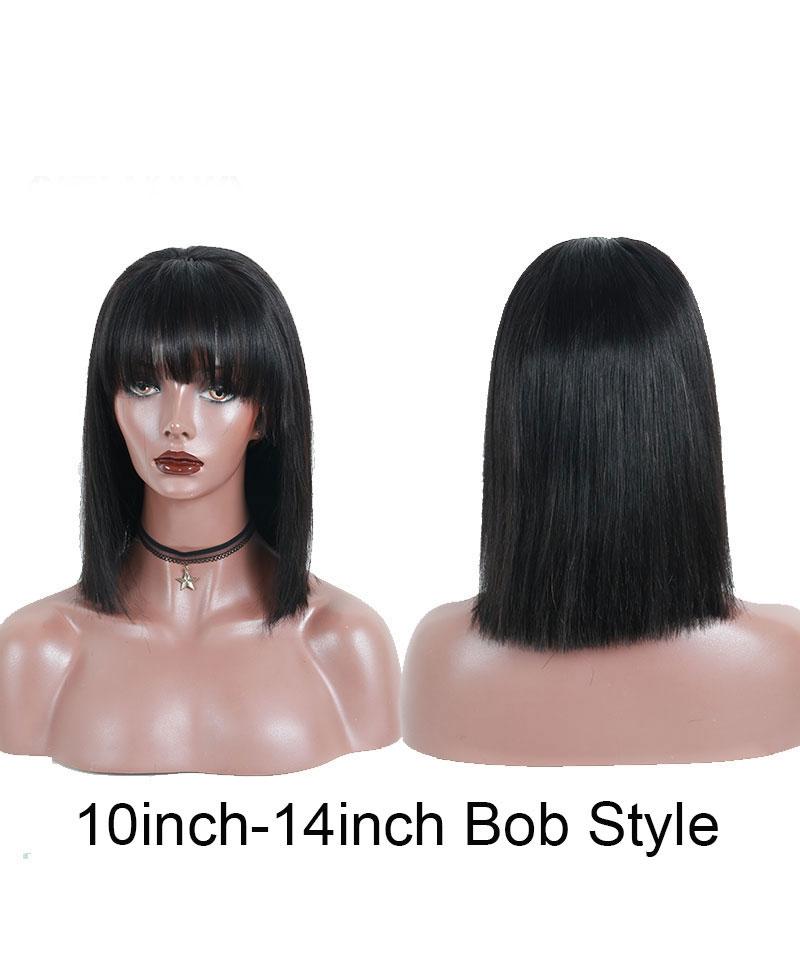 lace bob wigs with bang