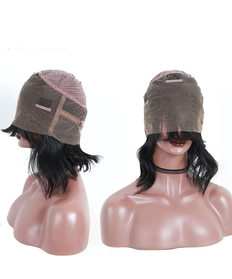 bob wigs with bangs for women