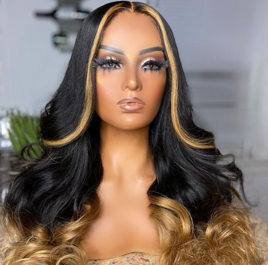 Msbuy Colorful human hair wigs Lace Front Human Hair Wigs With Baby Hair Brazilian Lace Wigs For Black Women cheap ombre wigs