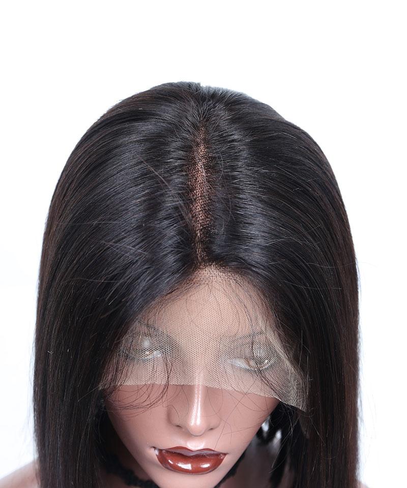 Super Short Msbuy13x6 Lace Front Human Hair Wigs Deep Part
