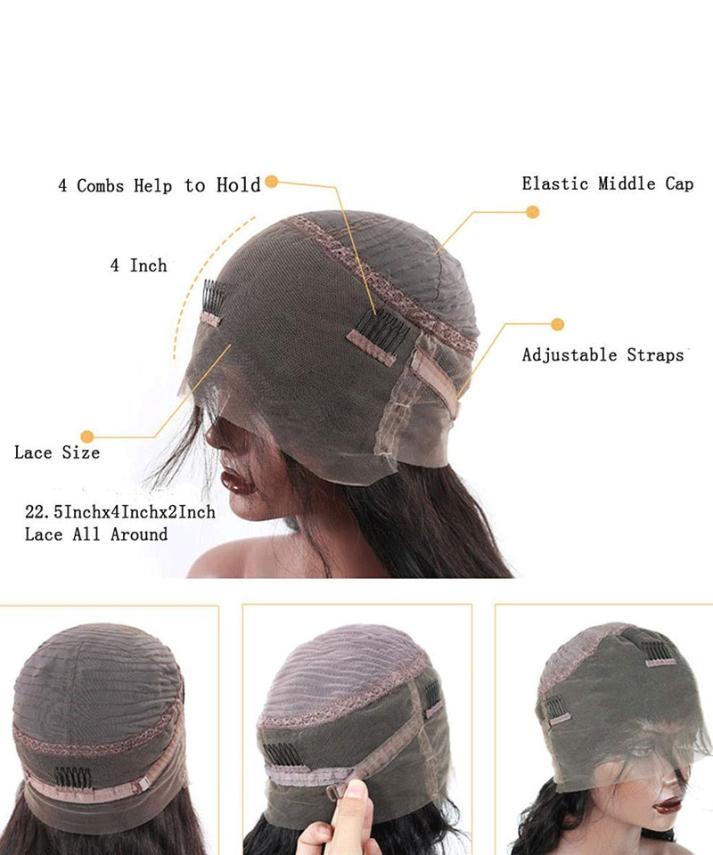 360 Lace Cap With fake scalp
