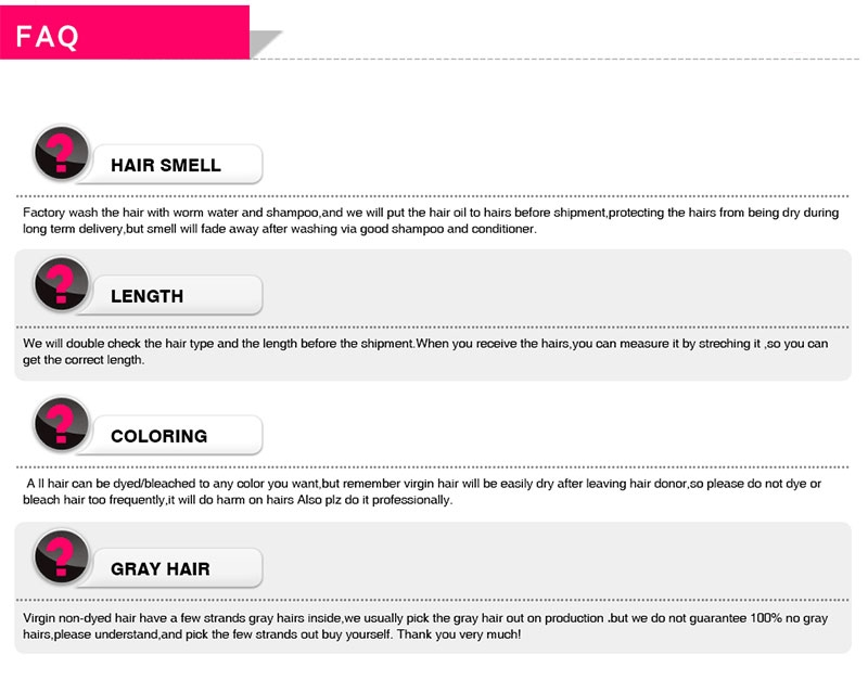 Msbuy FAQ For Human Hair