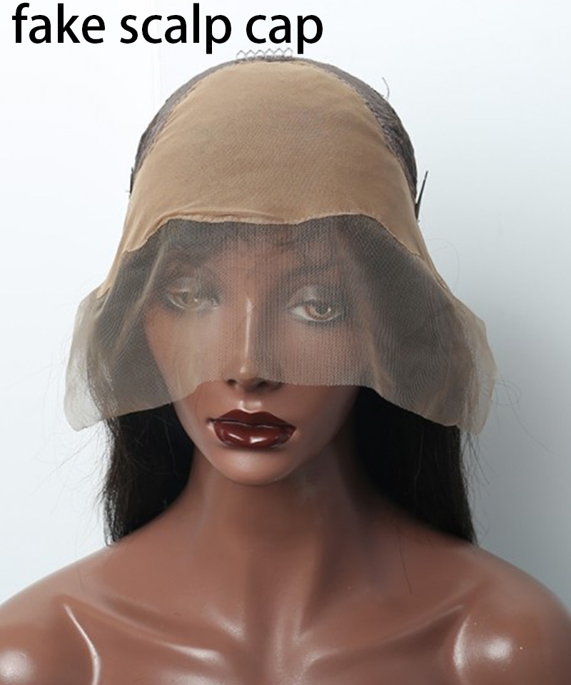 360 Lace Cap With fake scalp 1