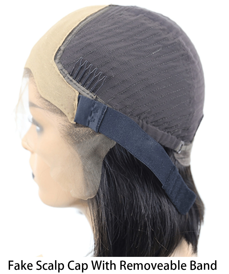 fake scalp with removable band