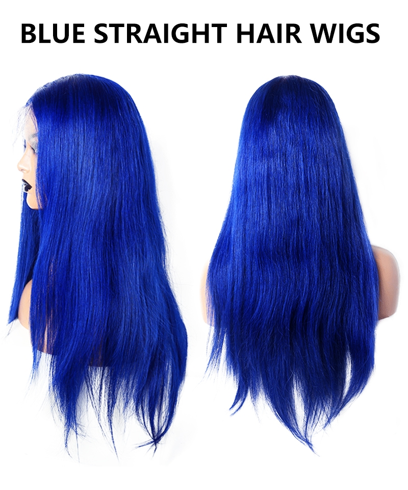 blue lace wig style 12