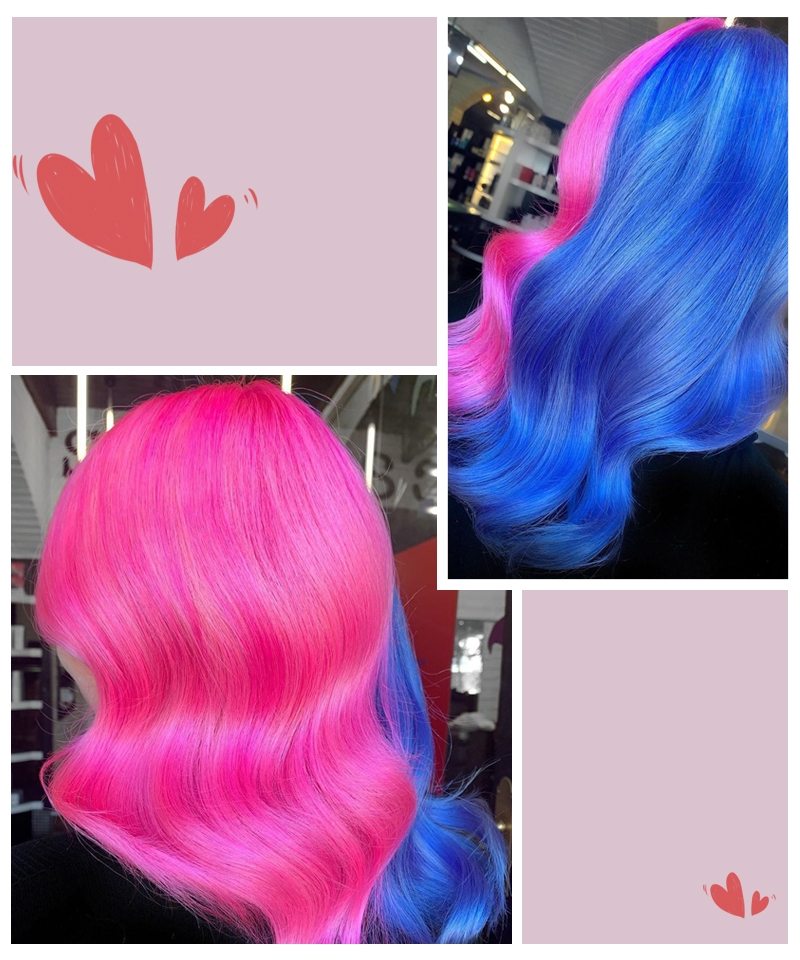 blue lace wig style wig cap msbuy