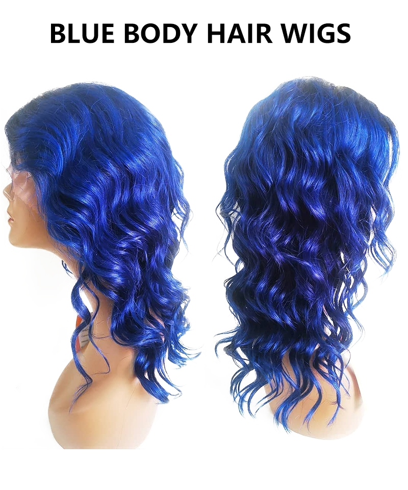 blue lace wig style 156