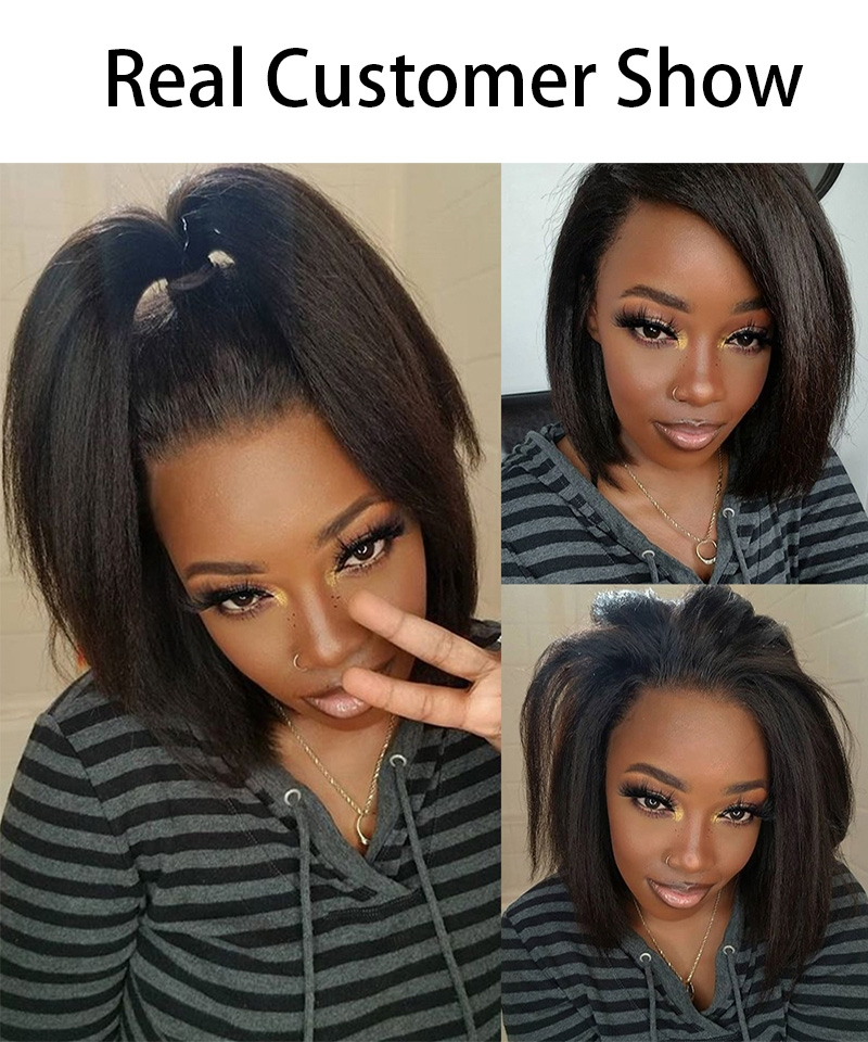 360 Lace Frontal Wigs kinky straight