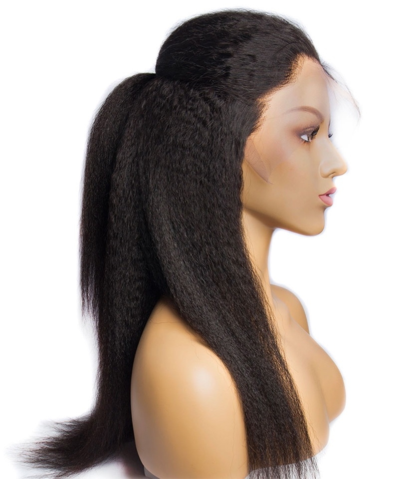kinky straight human hair wigs 3