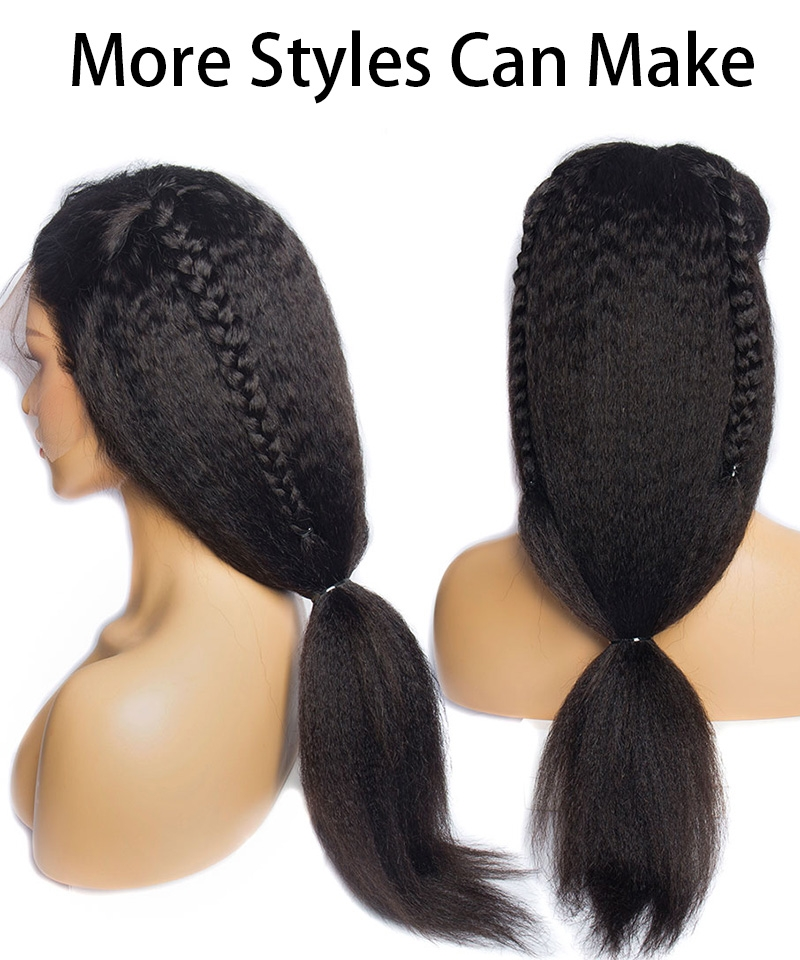 kinky straight human hair wigs 2